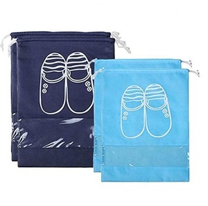 Shoe Bags Dust-Proof Drawstring with Transparent Window Travel Shoe Storage Bags