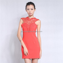 OEM formal dress patterns,red sexy formal lace evening dress