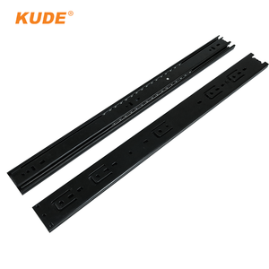 KUDE hardware mechanism wheel full extension drawer slide extendable rail table parts