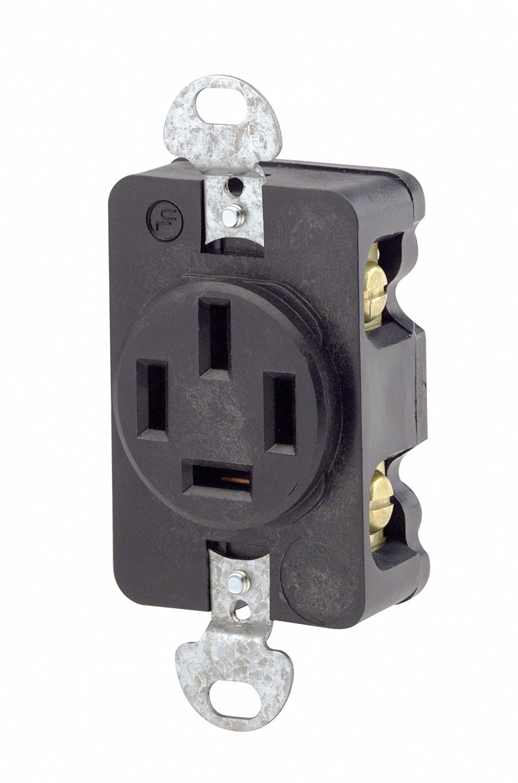 Buy Leviton 5335 20 Amp, 120 Volt, Duplex Style Combination Single ...