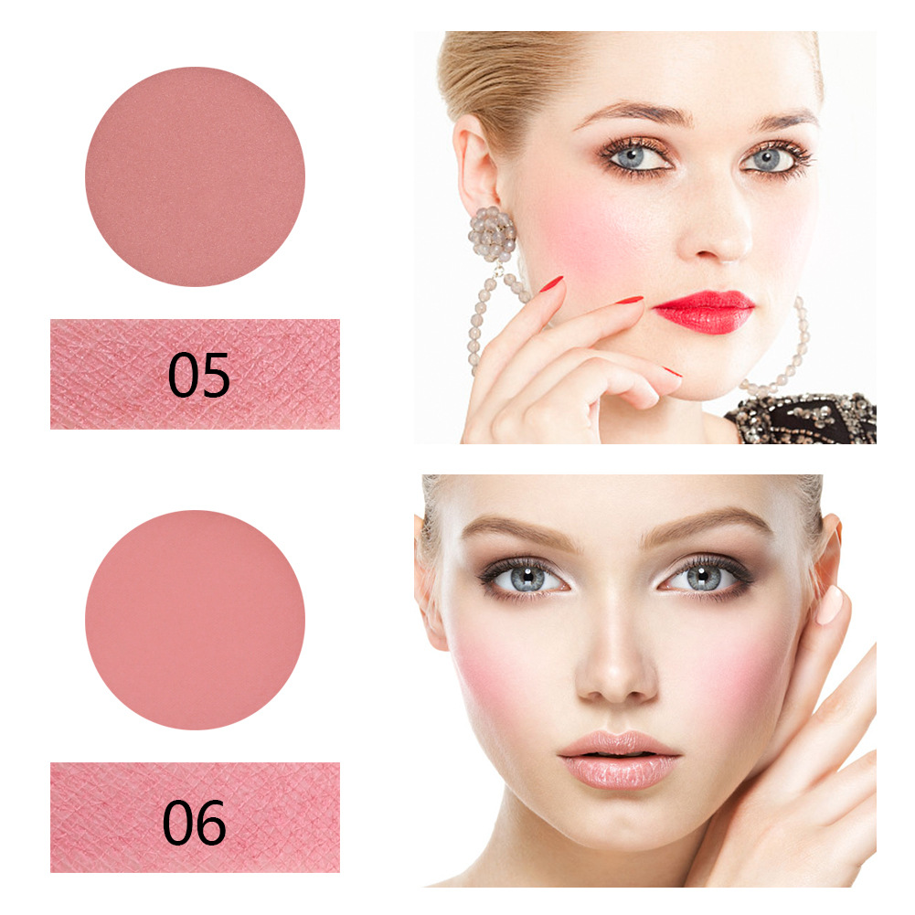 Private Label Long Lasting Cheap 8 Color Face Blush Palette with Brush for Women