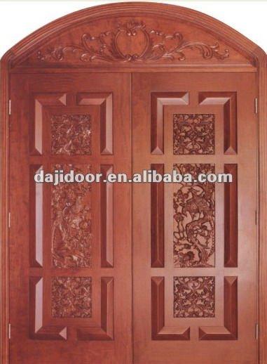 Exterior puertas de madera tallada de estilo oriental for Estilos de puertas de madera