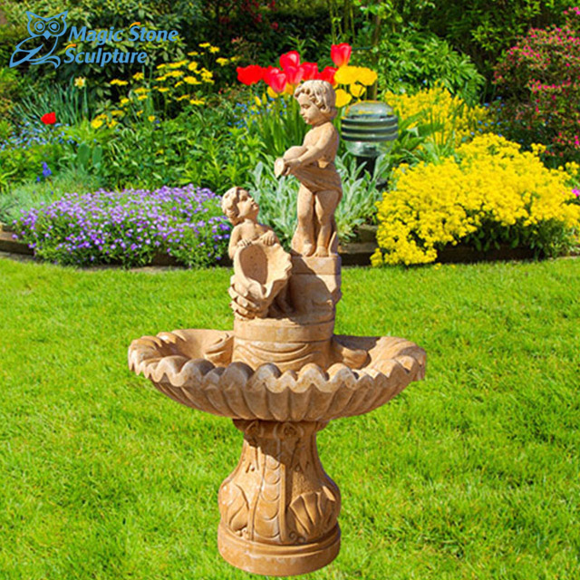 Outdoor Garden Angel Water Fountain
