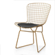 Custom made outdoor stackable garden bertoia metal wire chair with mesh
