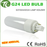 New arrival manufacturer design 85-265v 4 pin g24d-1 g24d-2 g24 led bulb