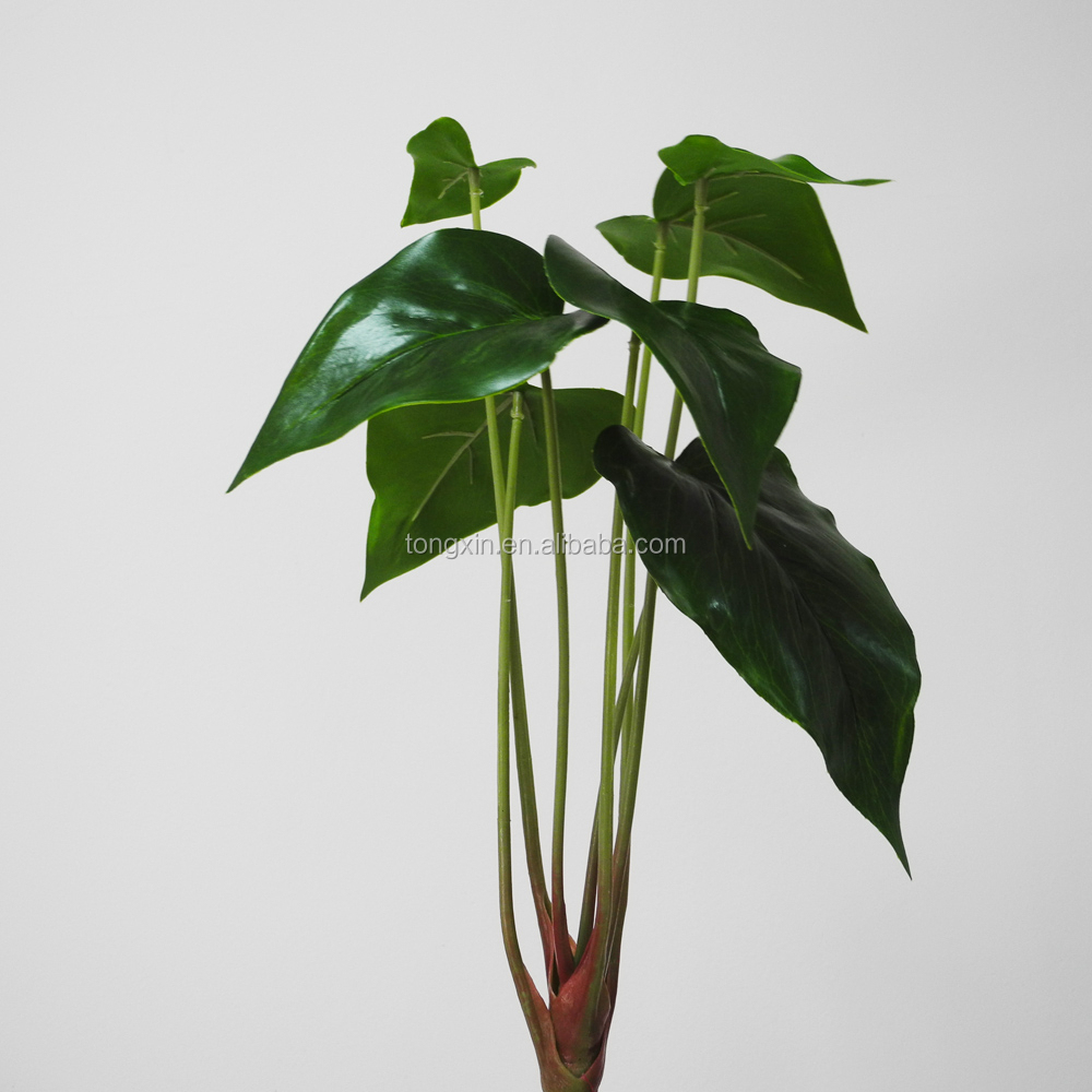 kunstmatige anthurium blad groene plant decor home hotel indoor ...