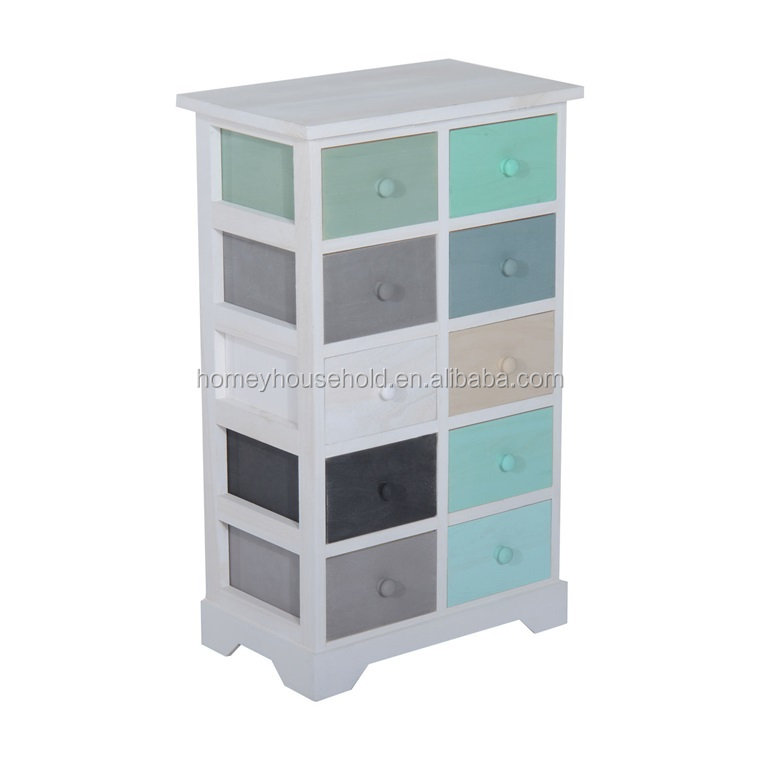 Knock down modern home customized white chest of drawers solid wood
