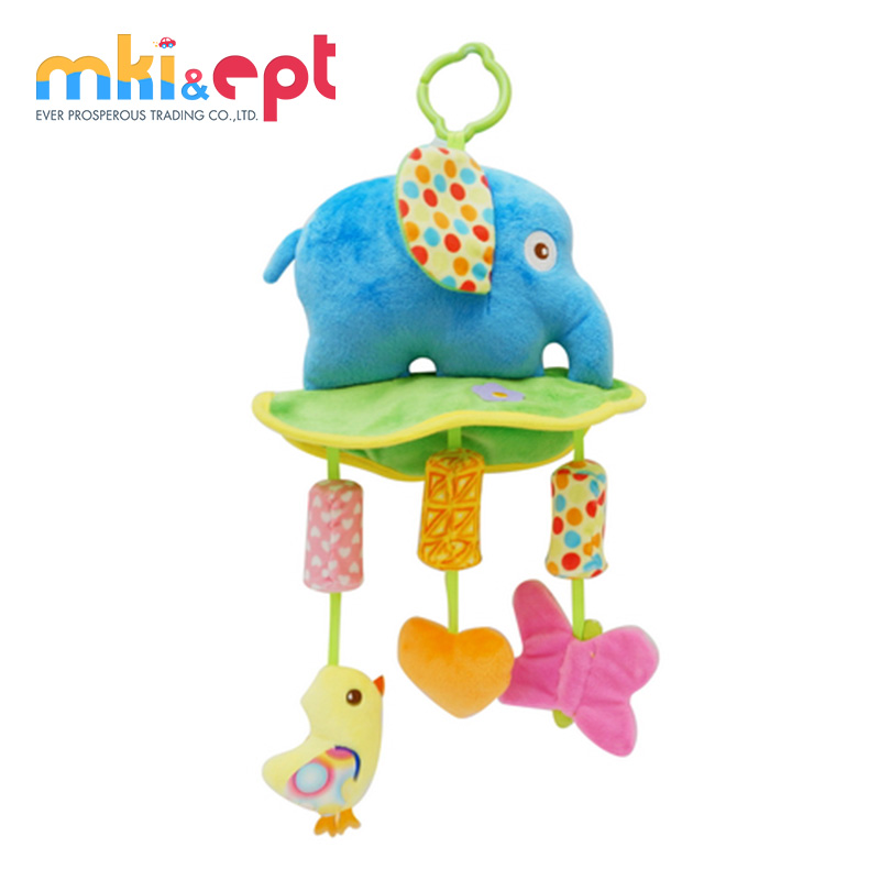 Wholesale factory price soft plush toy baby bed hanging toy with CE
