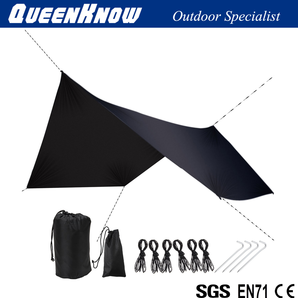 Ultralight Multifunctional Hammock Cover Waterproof Camping Shelter for Backpacking