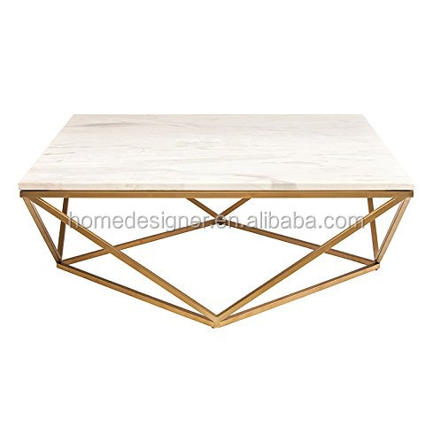 Gold Steel White Marble Coffee Table to your coffee shop decoration