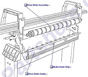 HP C6074-60403 Paper drive roller assembly - Includes drive roller, roller gear