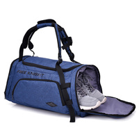 Ginzeal waterproof custom size duffel travel gym sport bag with shoe compartment
