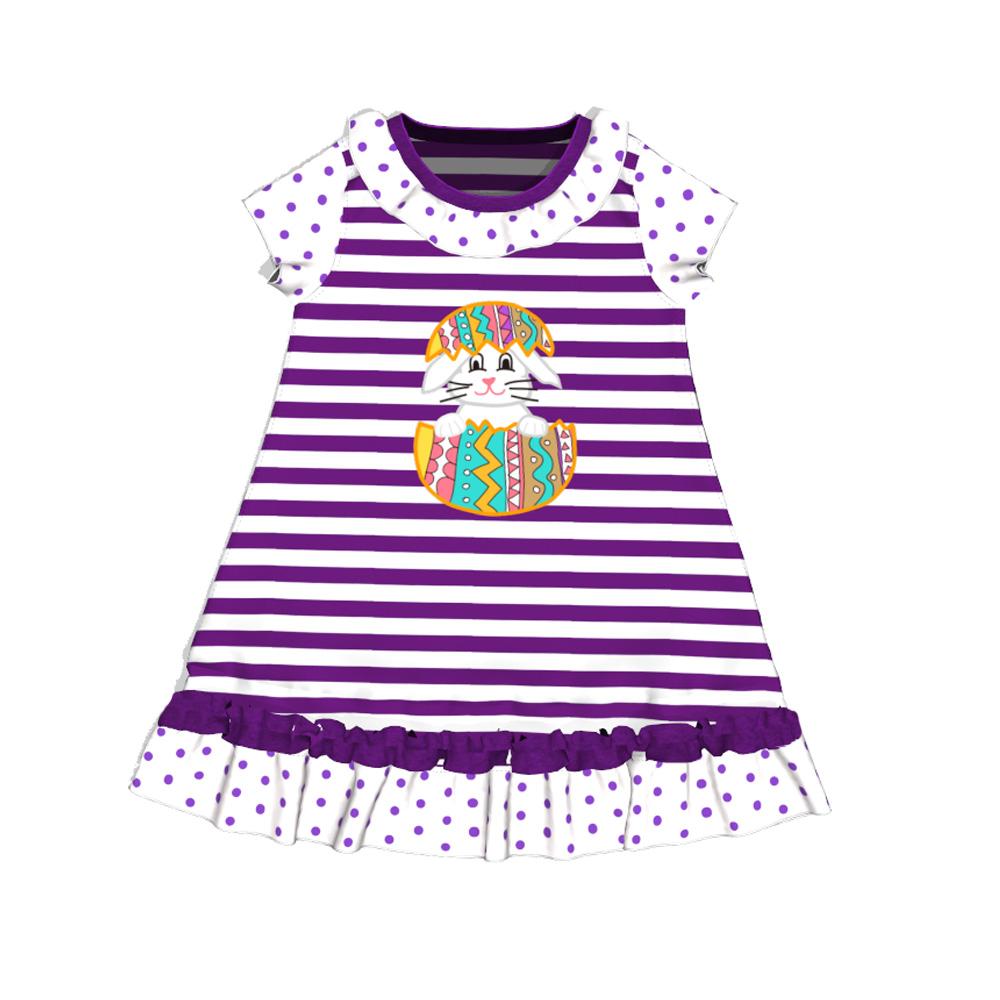 1e26a84e5 Nuevo diseño de conejito de Pascua de Collar corto mangas vestido de  Boutique de ropa para