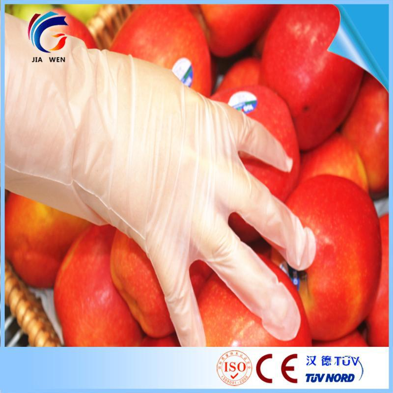 Low MOQ Disposable plastic polyethylene disposable gloves embossed
