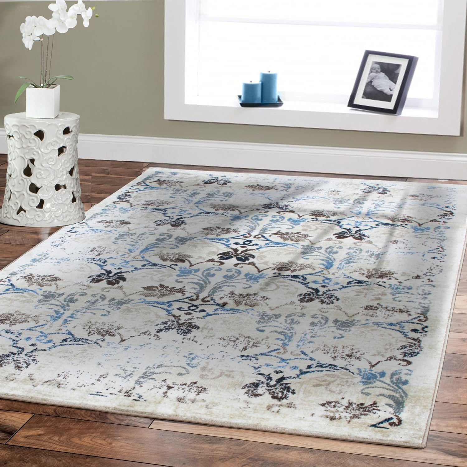 Get Quotations Premium Soft Rugs Small Rug For Bedroom Ivory 2x3 Foyer Indoor Area Clearance Beige