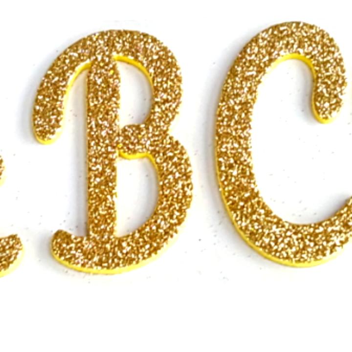 Personalizado de espuma EVA brillo alfabeto carta pegatinas