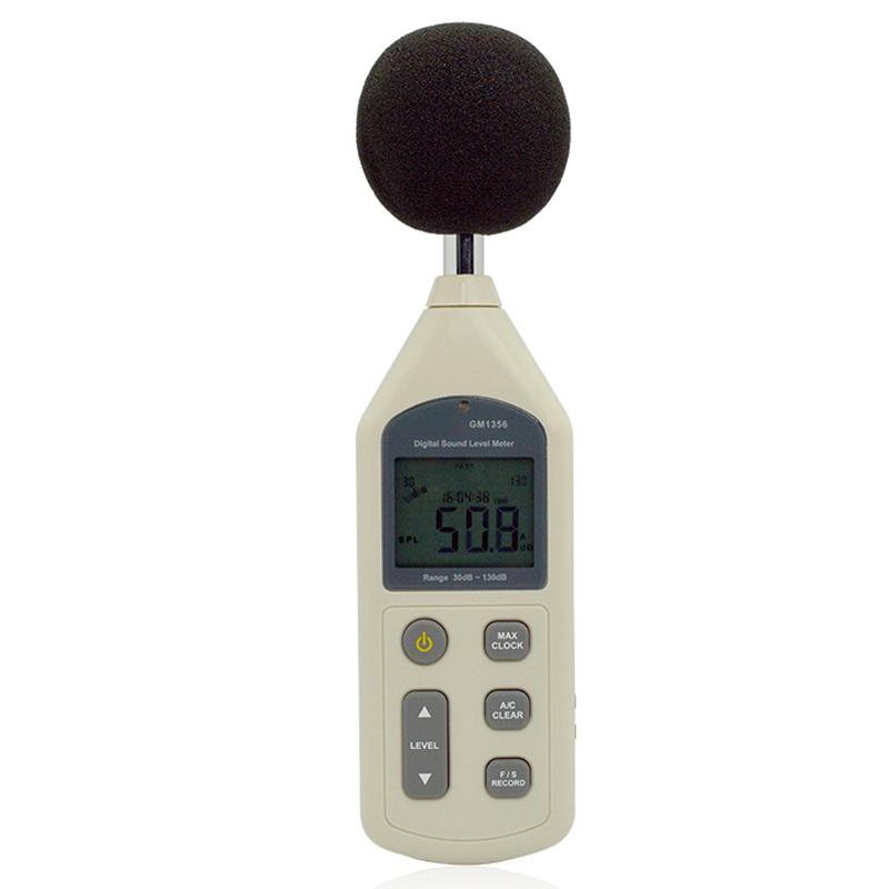Digital Sound Level Meter,30~130dB 31.5HZ~8.5KHZ Noise Level Meter Decibel Tester,AR844
