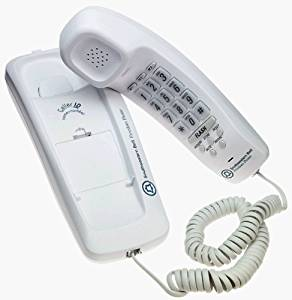 Southwestern Bell FM2552 Trimline Corded Phone with Caller ID and Wall Mount (White)