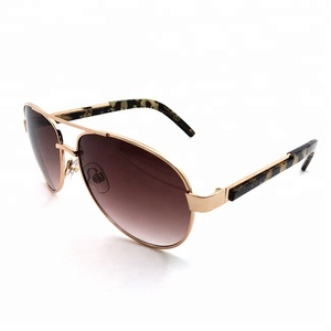 More popular aviation metal frame sun glasses custom sunglasses 2018