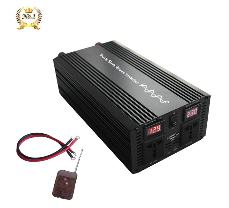 KSTE 4000W DC 12V a 220V AC Pantalla LCD de Coches de Onda sinusoidal Pura Potencia del inversor del convertidor
