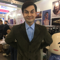 Realistic sculpture Vivid great funny comedy man Lifesize Wax silicone Figure of Mr.Bean Statue