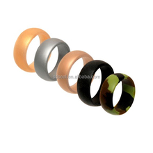 Embossed silicone rubber wedding rings for Men