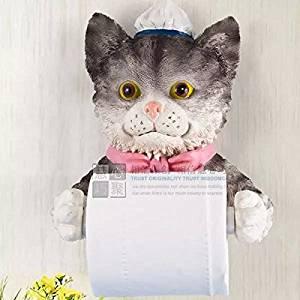 House Paper Towel Holder Cat Shape Tissue Rack