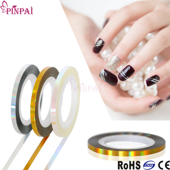 3 Colors Newest Laser Striping Tape Line Nail Art Sticker For