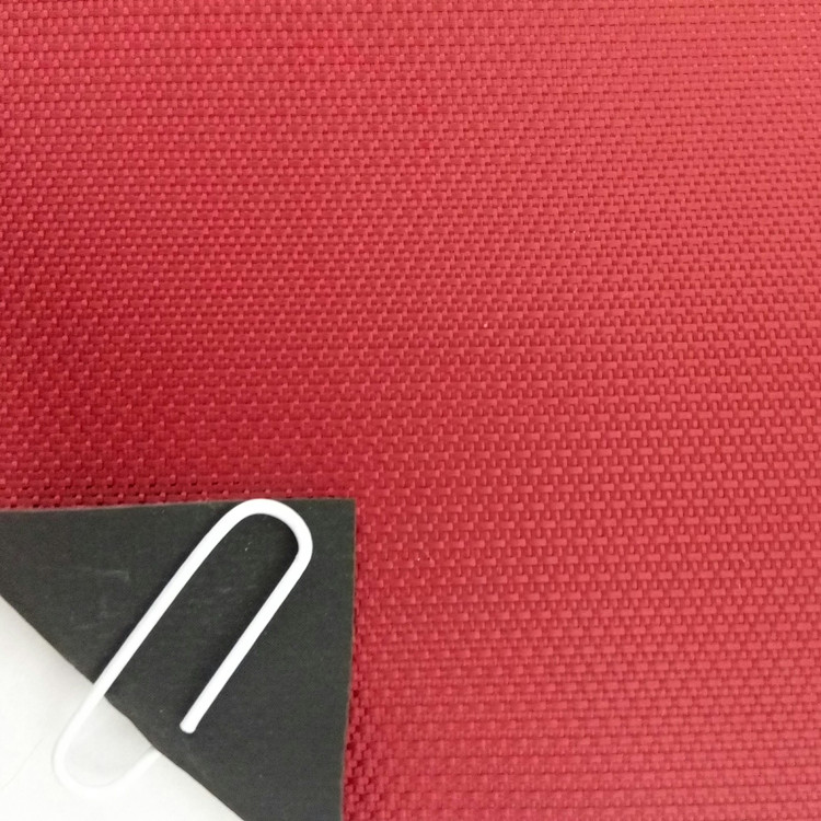 Jacquard red UV50 protection oxford fabric d600