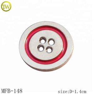 MFB148 Gun color Classic metal 4 holes metal button with brand logo engraved for shirt
