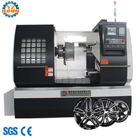 WRC28 Rim Repair Wheel CNC Lathe Machines For Sale In Germany
