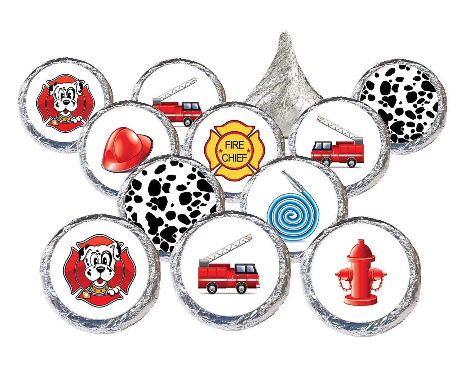Firefighter Party Favors Stickers (Set of 324)