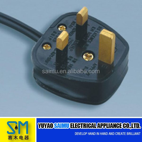 Electric Power Cable Bs 3 Pin Plug, Electric Power Cable Bs 3 Pin ...