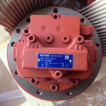 Kayaba excavator hydraulic final track drive travel motor for Hydraulic track drive motor