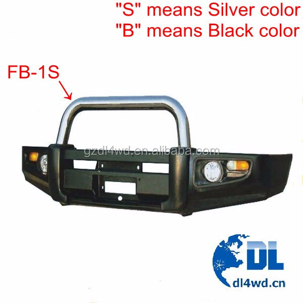 Rolled Steel Prado Front Bumper Guard For Toyota Fj 90