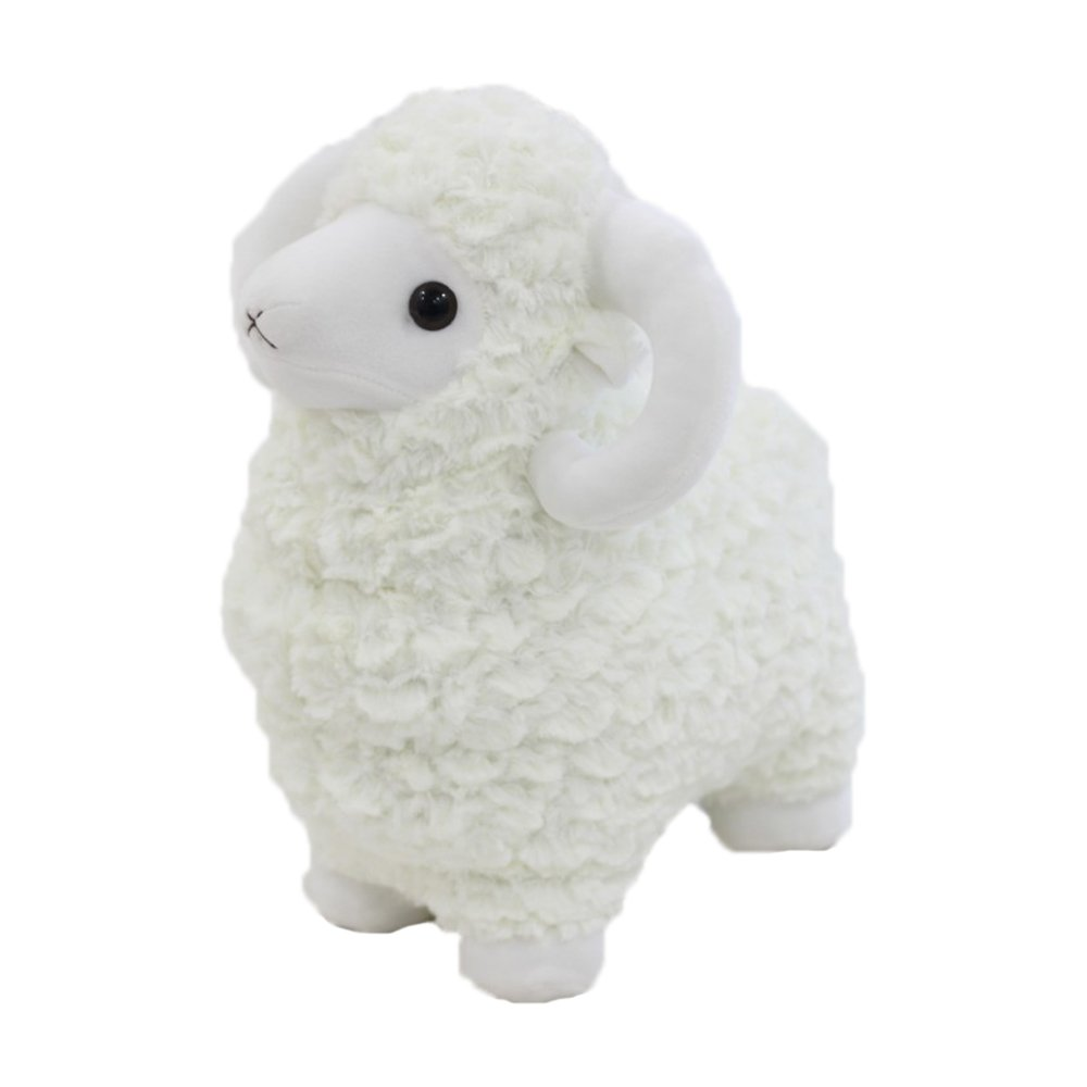 c069e70cb3e Get Quotations · Cartoon Ins Lovely Cute Cuddly Creative Simulation Lamb  Sheep Stuffed 3D Pom Plush Lumbar Soft Hugging