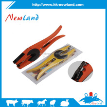 NL611 Cattle Livestock Metal cow Goat Ear Tag applicator Animal Tool Plier Forcep Applicator