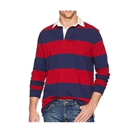 Oem Cheap Striped Rugby Polo Shirt Long Sleeve Wholesale