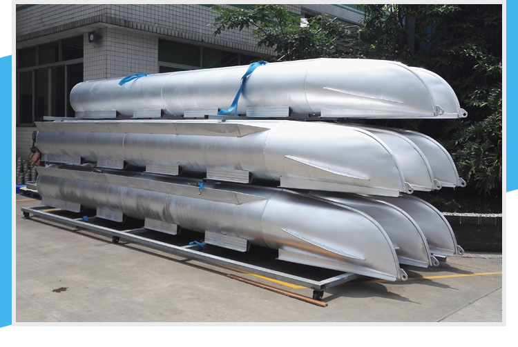 Custom 25 Ft X 25 In Aluminum Pontoon Boat Float Log Tubes
