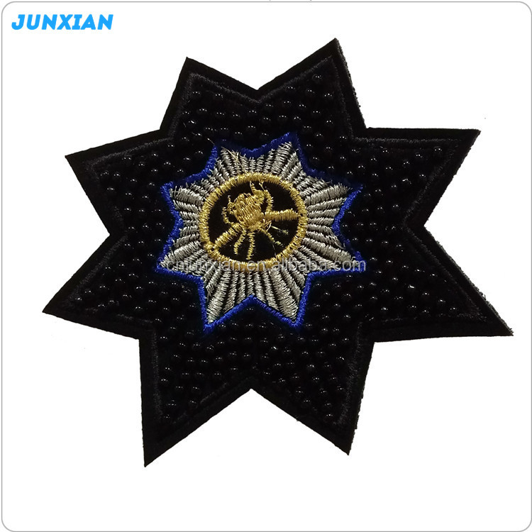 Manufacturer supply hot sale star shape indian embroidery patch