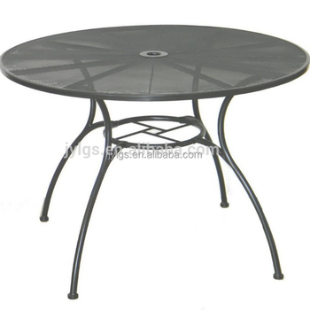 42 Inch Round Metal Mesh Patio Table Made In China