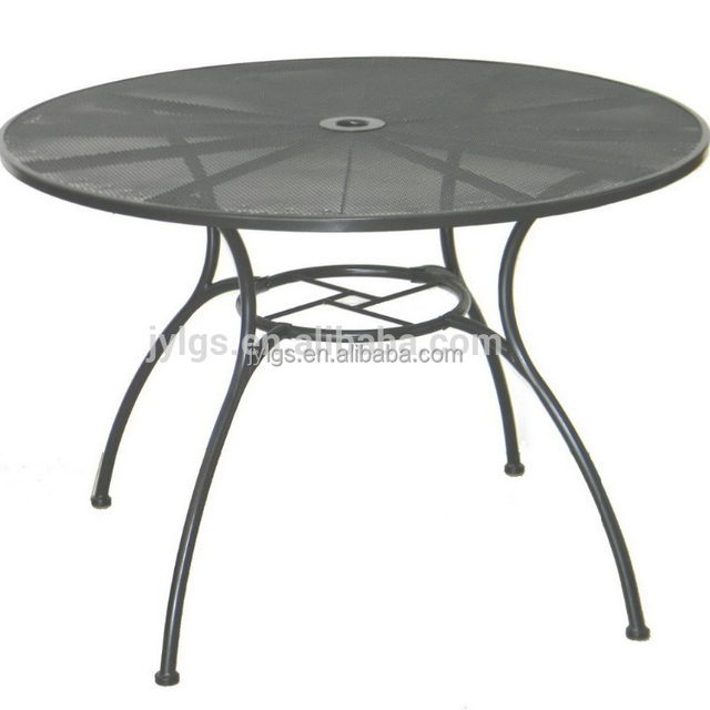 42 Inch Round Metal Mesh Patio Table