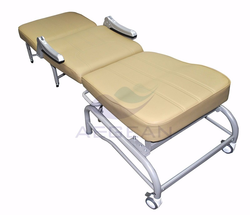 AG-AC005 CE ISO patient room accompany furniture clinic waiting sleeping folding chair hospital