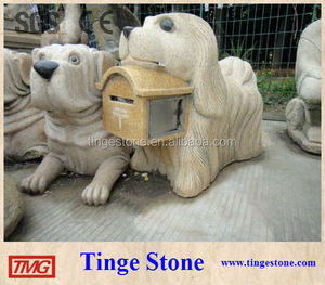 Carved lovely dog letterbox post mailbox designs