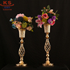 Metal trumpet flower vase table centerpiece for wedding party