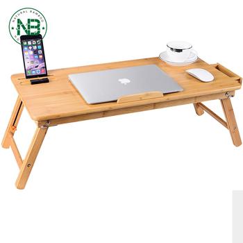 Verstellbarer Laptop-tisch Aus 100% Bambus Für Das Bett Mit Frühstück - Buy  Große Größe Laptop Tablett Schreibtisch,Verstellbaren Tisch,Bambus Laptop  ...