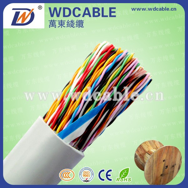 Factory price 10 20 30 40 50 100 150 200 pairs indoor multi-pair telephone cable