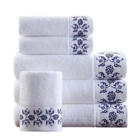 100% cotton white dobby hotel towel Cheap bath towel