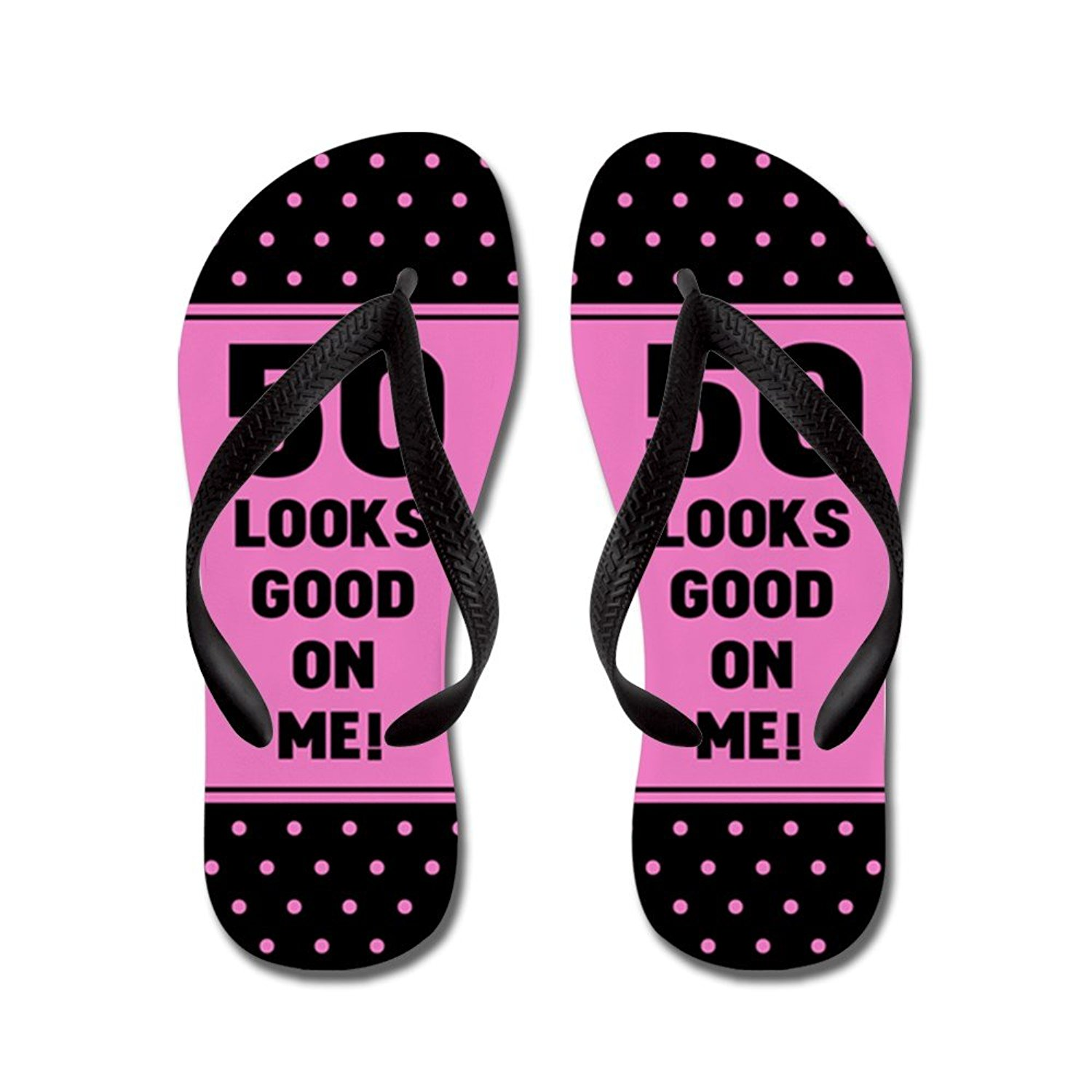 a89205657 Get Quotations · CafePress Funny 50Th Birthday - Flip Flops