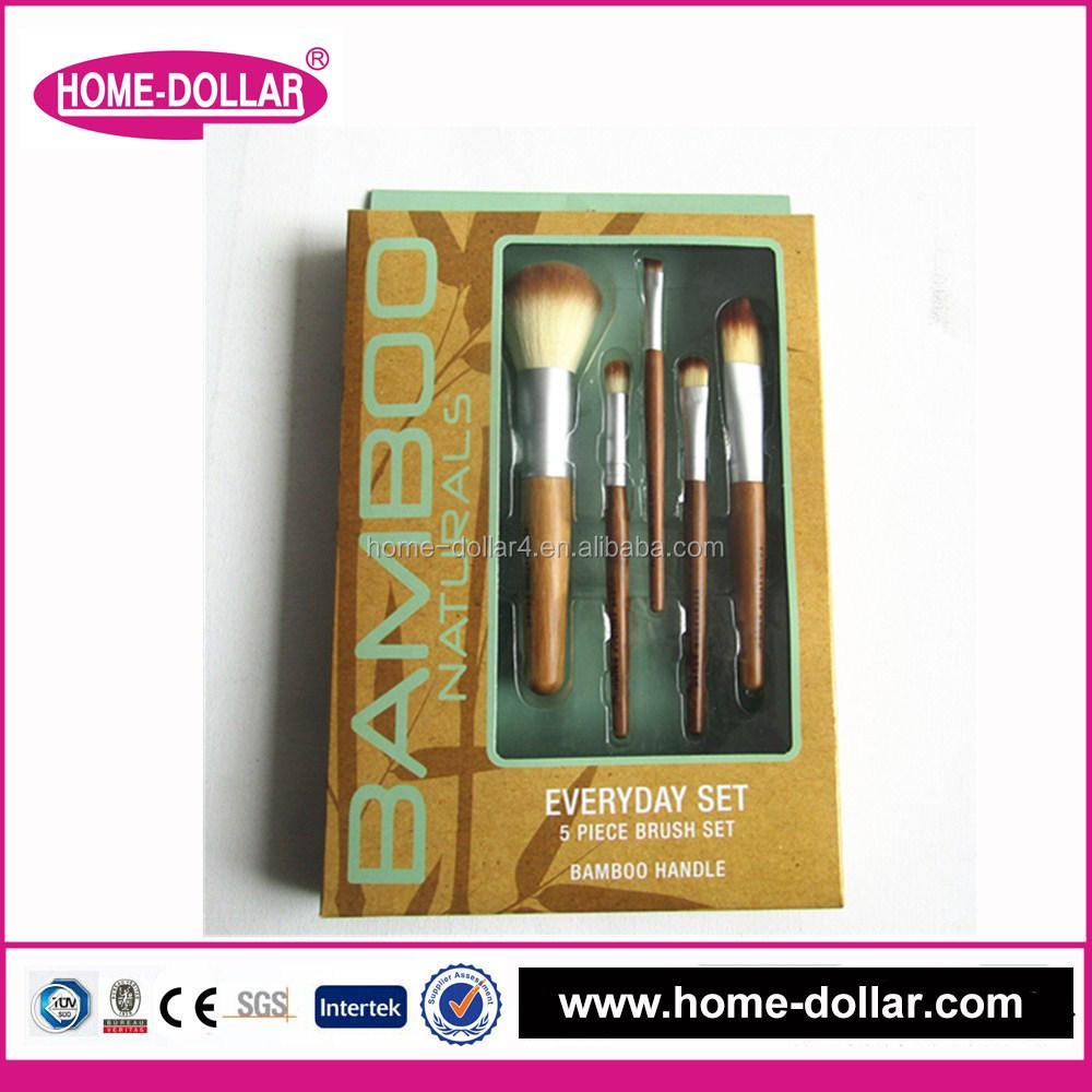 wooden bamboo handle travel makeup brush kit/Professional Cosmetic Stipple Powder brush/Foundation brush set
